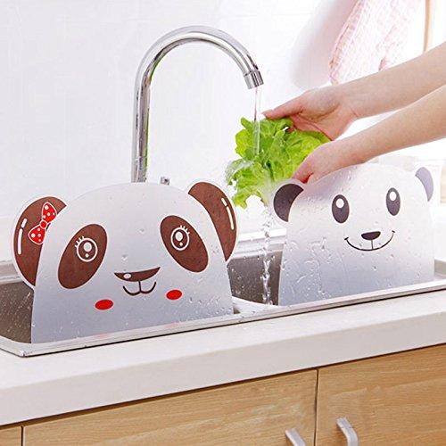 Fregadero contra salpicaduras, rociador contra salpicaduras de agua en la cocina, placa de retención a prueba de salpicaduras de agua del fregadero con lechón adjunto, placa de deflector de lavado de platos de cocina, con 31.5 * 24.5 cm
