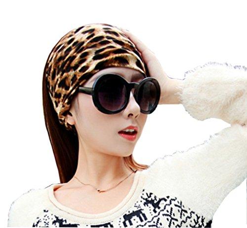 Apanphy® Yoga Sport Bandeau Cheveux Écharpe Bandeau Classique Leopard