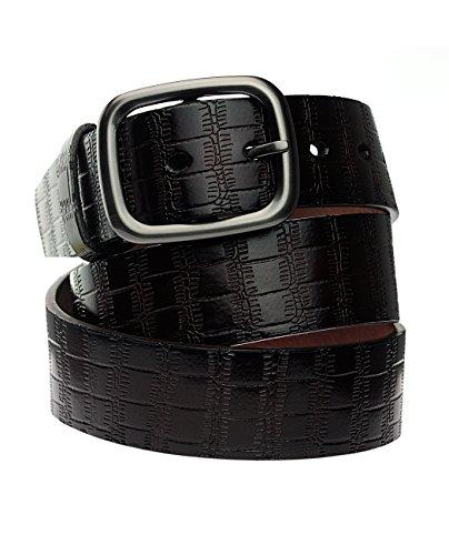 NYfashion101 Superbe ceinture en cuir à relief de style crocodile. Produit offert