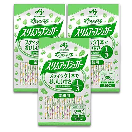 味の素 パルスイート スリムアップシュガー スティック 袋 300本入×3個