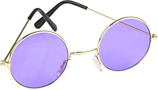 Rhode Island Novelty Round Color Lens Sunglasses 1 Pair of Purple Glasses