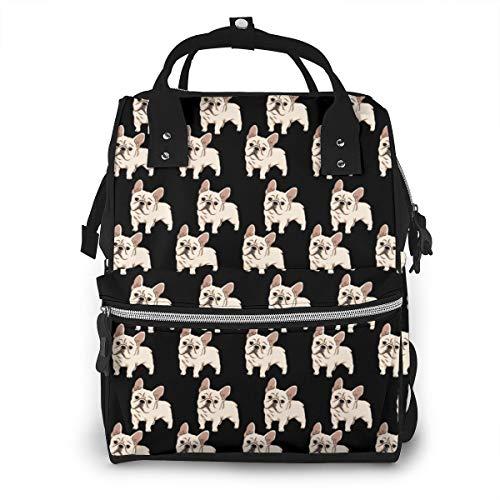 NiYoung Diaper Bag,Backpack Diaper Bag, Cute French Bulldog