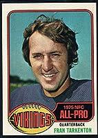 Football NFL 1976 Topps #500 Fran Tarkenton Vikings