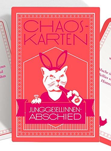 Chaoskarten Junggesellinnenabschied Spiel JGA – Das Original – 50 Missionen – Junggesellenabschied Frau