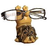 MISS TUTU Dog Resin Eyeglass Holder,Animal Spectacle Holder Eyeglass Display Stand Sunglasses Holder Home Decoration