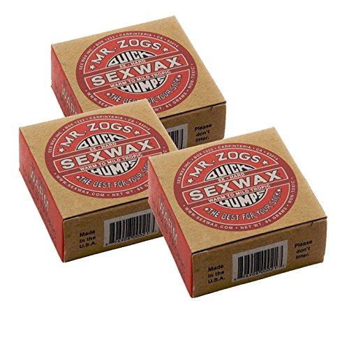 Sex Wax Quick Humps Coconut (Choose Temperature) (5x Warm to Tropical, 3 Pack)