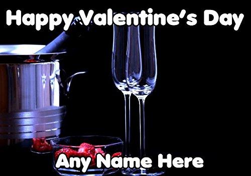 Champagne Aardbei tv384 Leuke Valentijnsdagkaart A5 Gepersonaliseerde wenskaart