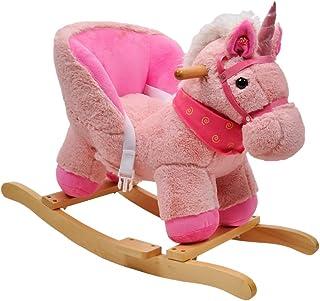 "Linzy Plush L-36063 21"" Unicorn Baby Rocker W/Safety Belt"
