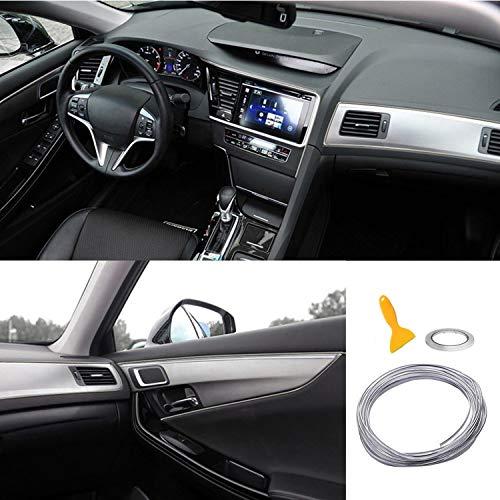 Car Trim Strip linea,fai da te Car Styling interni modanature Decorazione,5M (argento)