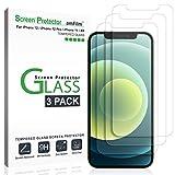 amFilm (3 Pezzi) Vetro Temperato per iPhone 12, iPhone 12 Pro, iPhone 11, e iPhone XR (10R) - Zero Bolle (Facile Installazione) Pellicola Protettiva Protezione Schermo (6.1')