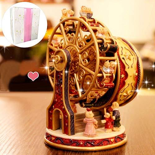 ASNOMY Caja de música con noria giratoria personalizada para el cumpleaños de niñas o...