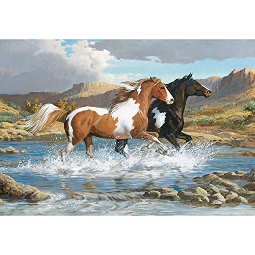LANG 1000PC Puzzle Stream Canter - Horses