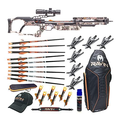 Ravin Crossbows R10 400 FPS Crossbow (Predator Camo), Huntsman Bundle (11 Items)