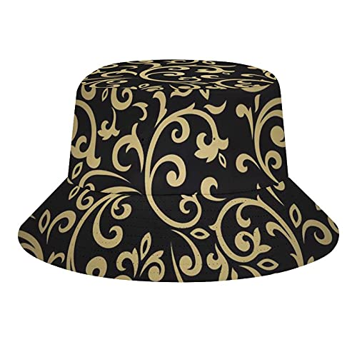 MEITD Sombreros de cubo de verano de viaje playa sombrero de sol al aire libre Unisex abstracto elegancia floral, Blanco-estilo2, 7/7 1/8
