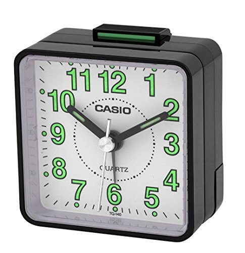 Casio Schreibtischleuchte Nachttischlampe Reisewecker TQ140 schwarz