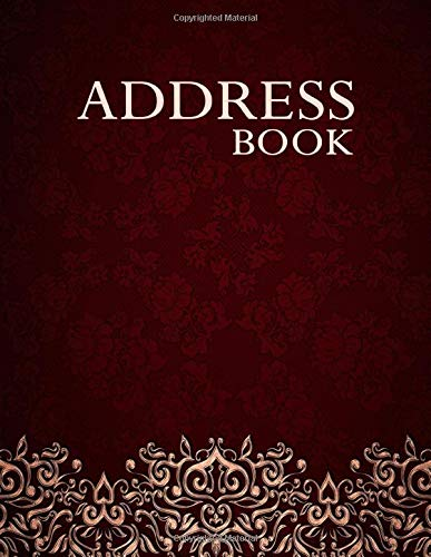 Address Book: Phone Book With Tabs, Ideal Gift For Elderly People - Red Velvet Cover - Large Print Size