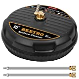 BEETRO 15' Pressure Washer Surface Cleaner, Power Washer Attachment...