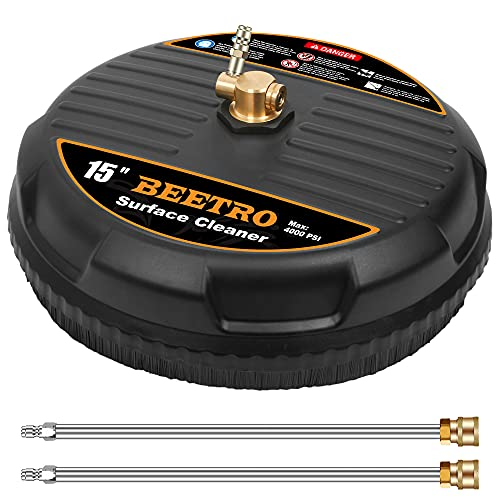 BEETRO 15' Pressure Washer Surface Cleaner, Power...