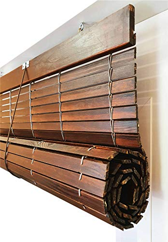 EB ESTORES BARATOS Persiana Alicantina Exterior/Persiana de Madera Exterior Enrollable. Contactaremos para su Ajuste sin Cargo. Medida Ancho X Alto Color: Nogal. Medidas: 90cm x 120cm