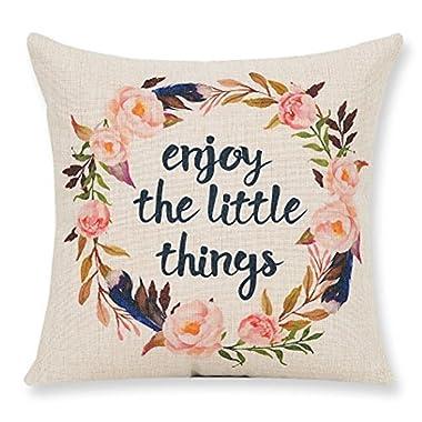 Lyn Cotton Linen Square Throw Pillow Case Decorative Cushion Cover Pillowcase for Sofa 18  X 18   Lyn-32 (5)