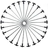 Qeedo Quick T-Pegs Piquets de Tente avec Poche (30 cm) - 12 pièce
