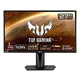 ASUS ゲーミングモニター TUF Gaming VG27AQ 27インチ/WQHD/IPS/165Hz/1ms/HDR/HDMI×2,DP/G-SYNC Compatible/ELMB/スピーカー/3年保証