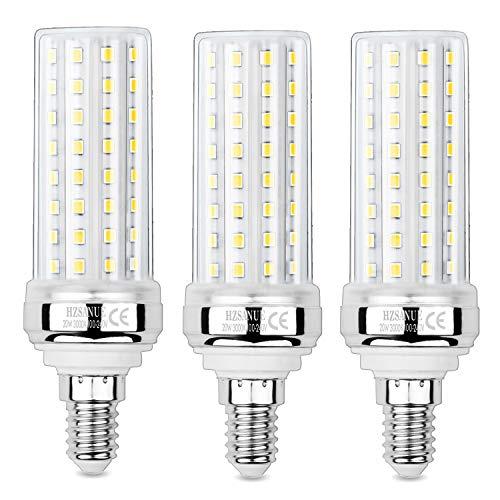 HZSANUE E14 LED Mais Glühbirnen 20W, 3000K Warm Weiß, 2000Lm,Kleine Edison Schraube Kerze Leuchtmittel, 150W Glühlampe Äquivalent,Nicht dimmbar, 3er-Pack