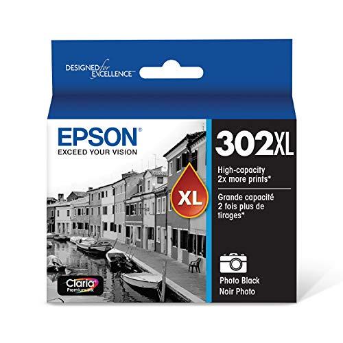 EPSON T302 Claria Premium Ink High Capacity Photo Black Cartridge (T302XL120-S) for select Epson Expression Premium Printers