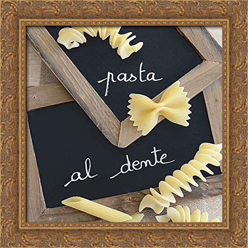 Chatelain, Sonia 20x20 Gold Ornate Framed Canvas Art Print Titled: Pasta Al Dente II