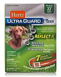 top 10 dog tick collar Hartz UltraGuard Plus Reflective Orange Flea and Tick Collar for Dogs and Puppies