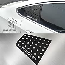Silver Lettering C Pillar Window Sports Plate Panel Accessories LH RH For GM Chevrolet Cruze 2016 2017 2018 (Black Plate)