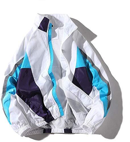 Winodfrw Jackets Mens 2021 Spring Autumn Hip Hop Tracksuit Coat Cardigan Streetwear Man Splice Jacket