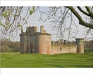 robertharding 10x8 Print of Moated Medieval Stronghold of Caerlaverock Castle (1188487)