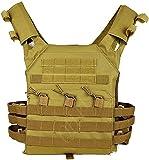 XBYN Hombres Chaleco Táctico Camuflaje Molle Placa Molle Protección Multifunción Combate Chaleco Militar para Airsoft Paintball CS Swat Wargame Caza Deporte al Aire Libre (Color : Tan, Size : Adult)