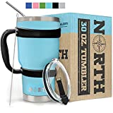 North Teal Stainless Steel Tumbler 5-Piece Set, 30 oz Vacuum Insulated, Travel Mug For Home, Office, School – Like Yeti Tumbler For Ice Drink & Hot Beverage