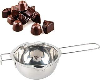 SNIIA Crisol de Chocolate, Boquillas Dobles de Acero Inoxidable con Mango Resistente al Calor para