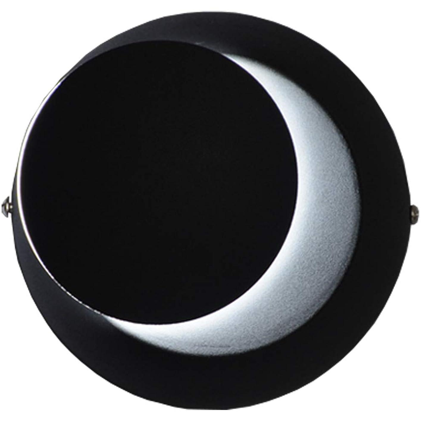 バウンド大人適用する北欧のシンプルなLEDウォールランプ白/黒の寝室のベッドサイドのリビングルームの廊下は月の形の装飾的な壁ランプを回転させることができます (Color : Black, Design : White light)