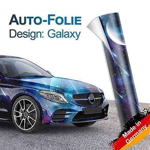Design-Autofolie im Galaxy-Stil für 3D Car Wrapping mit Luftkanälen 100x150cm