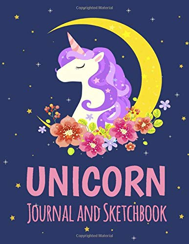 Unicorn Journal and Sketchbook: Unicorn Composition Lined and Blank Pages With Unicorn Character For...