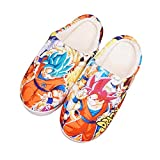 YZJYB Dragon Ball Pantuflas Interiores para Hombres Damas Impresión 3D Son Goku Anime Algodón Zapatillas Antideslizantes Slippers De Felpa,Dragon Ball,290