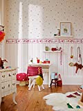 Esprit Home Bordüre Girls Dreams Vlies 5,00 m x 0,13 m rot lila weiß Made in Germany 941273 94127-3 - 8