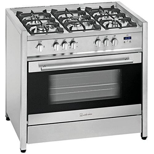 Meireles G 110 X - Cocina (Independiente, Acero inoxidable, Botones, Sensor, 114 L, Gas, Grande)