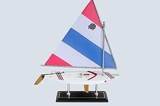 LK Wooden Olympic Sunfish Model Sailboat Decoration 16