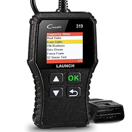 LAUNCH Code Reader CR319 OBD2 Scanner, Automotive Engine Fault Code Reader CAN Scan Tool with Full OBD2 Functions, Supports Mode6 O2 Sensor and EVAP Systems with DTC Lookup