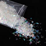 10g Holographic AB Nail Sticker Shell Sparkly Sequins Irregular Paillette DIY Gel Polish Manicure Nail Art Decorations,2