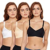 BODYCARE Sweetheart Women's Elastic Straps Non Padded Bra in Pack of 3