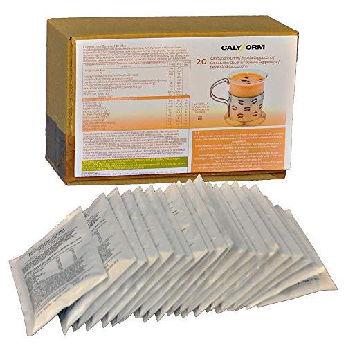CALYFORM Frullato Proteico Proteine in Polvere per Dimagrire Velocemente (in Bustine Monodose) Shake Frullati Proteine Bevande Dietetiche Proteine Perdita Peso (Frullato di Cappuccino, 20 bustine)
