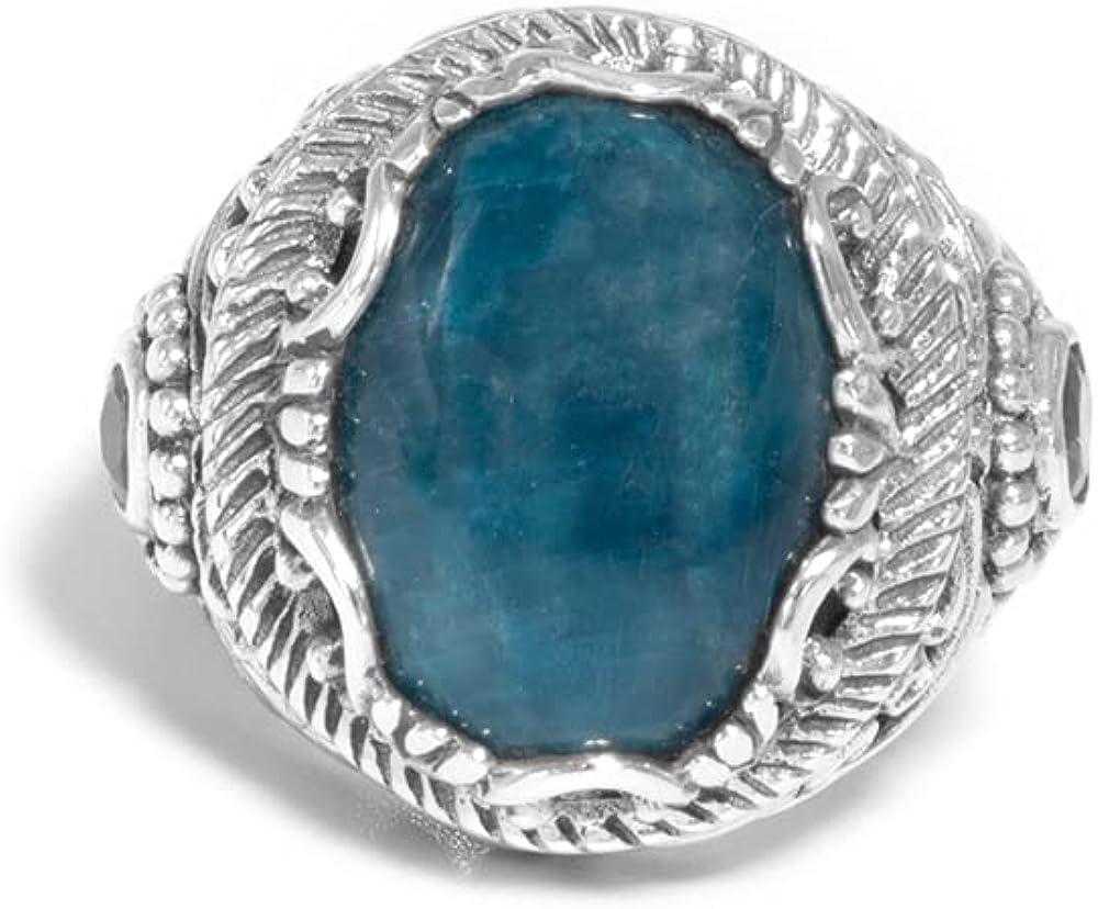 Sterling Silver 925 19mm x Mint Filigree Ranking TOP19 Max 47% OFF Apatite Kyanite 10mm