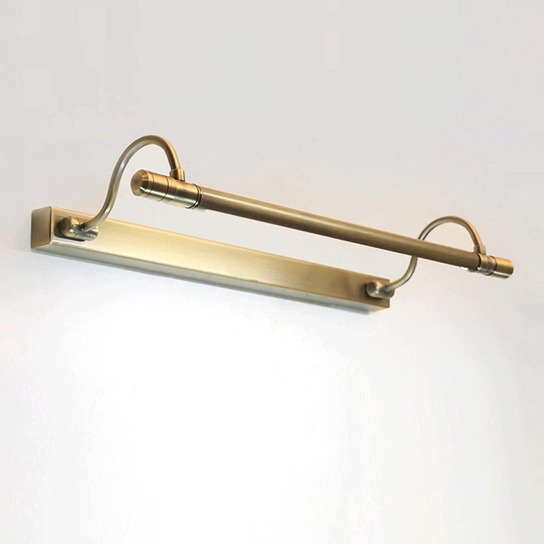 Spiegelleuchten LED-Licht-Lampen-Licht-Retro Waschtisch im Bad Spiegelleuchten (Farbe   Bronze-10w65cm)