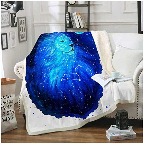 Zswdcsbmd Impreso En 3Dfunda Nórdica para Sofá Galaxy Lion Sherpa Blanket para Colchas De Sofá Cama 150X180Cm
